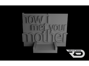How I met your mother wall mount (hanger)