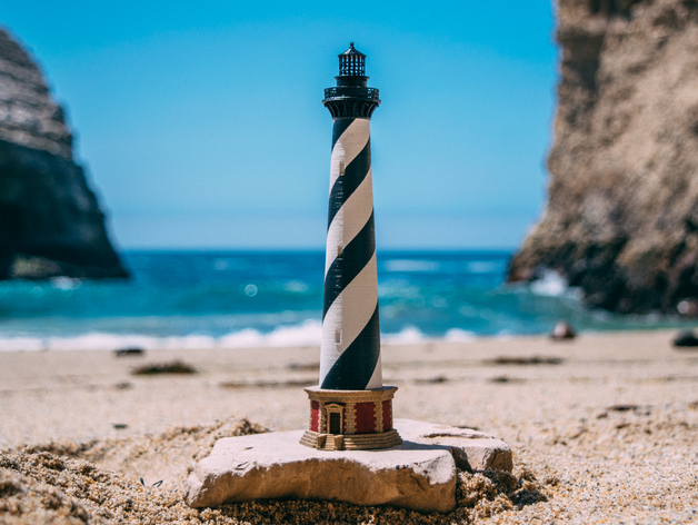 Cape Hatteras Lighthouse Desktop Model Kit By Estlinhaiss