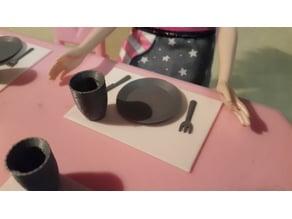 Tableware for dolls