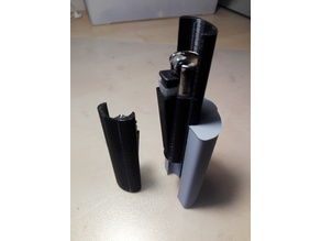 Smokesnap with cover and adapter for clipper lighters