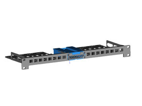 Modular 1U Relay Rack Mount for (16) Keystone Jacks (with STEP file)