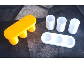 morning/midday/evening pill organizer