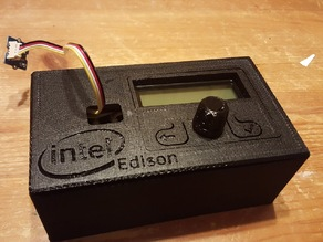 Intel Edison - LCD, Rotary Encoder & 2 Button Module
