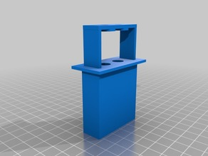 Dual Filament guide for passing through a material (such as wood)