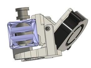 Adjustable E3D V6 impr. fan adapter and modded Prusa MK3 Layer Cooling