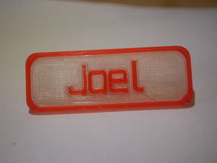 Custiomizable Name Tag