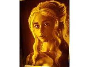 Daenerys Lithophane