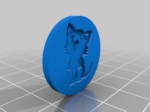 cat shopping chip / Katze Einkaufsmarke