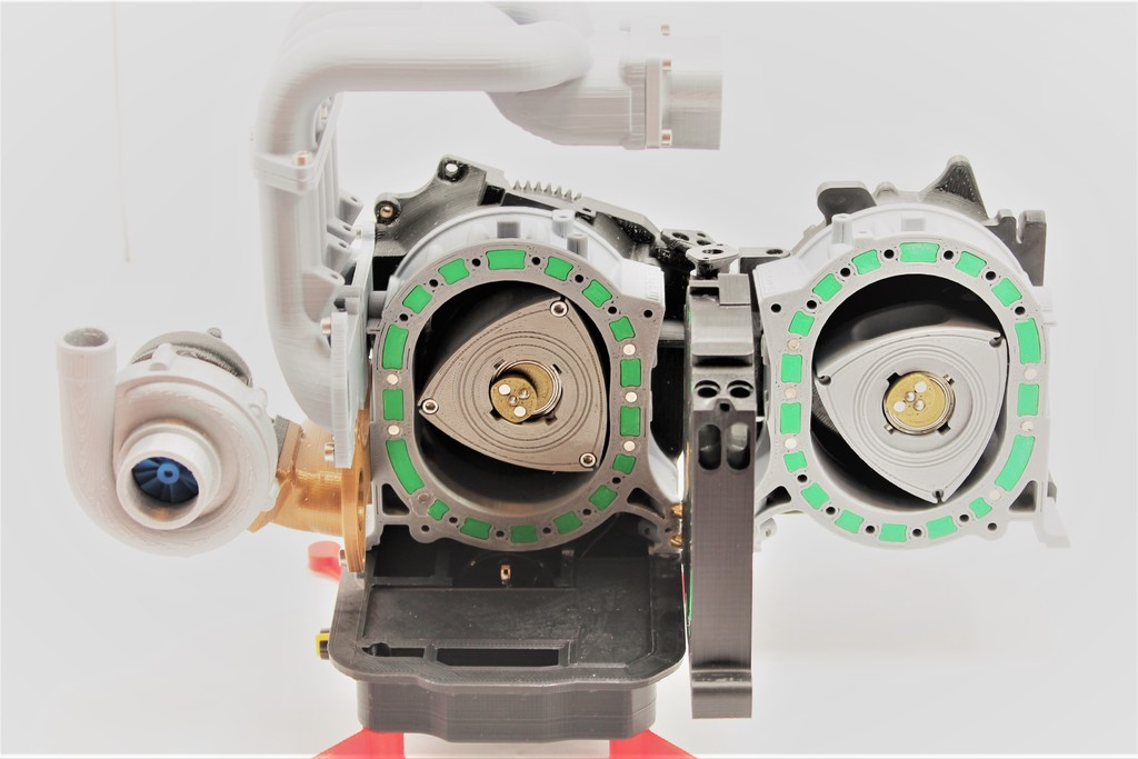 Mazda RX7 Wankel Rotary Engine 13B-REW - Working Model by