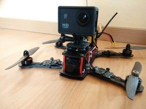 Tiltable ZMR250 camera platform (SJ4000 / GoPro compatible)