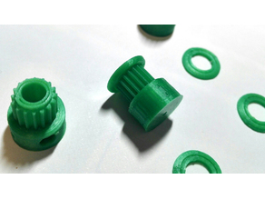 GT2 16T toothed pulley (5mm and 2mm shaft) with double fixing screw and countersunk cap suitable for CNC