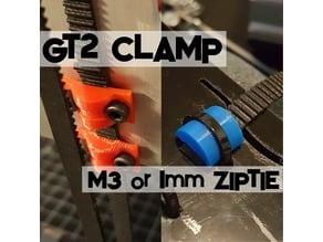 GT2 Belt Clamp - Zip Tie or M3 Screw