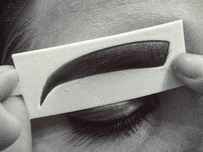 Fierce Eyebrow Stencil