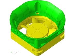Collerette de réduction de turbulence pour sunon 40x40- turbulence reduction flange for sunon 40x40