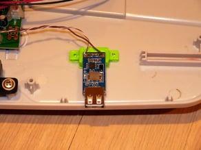 Mount for USB buck converter module