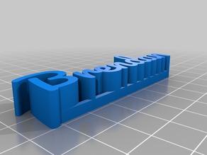 Brendan 3D name plate