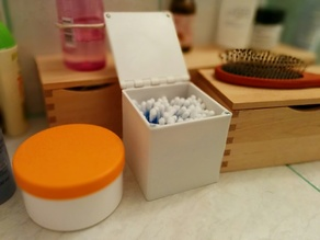 Box for ear cleaning sticks