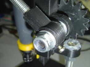 Mini Drill Press arm mount with set screw and Dremel Flex Shaft holder