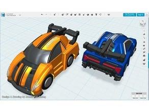 Sports Car pull-back car toy