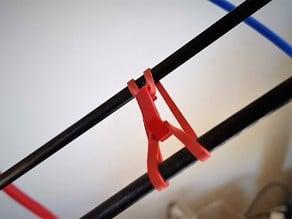 ElastiClips - Delta Kossel arm rubber band damper
