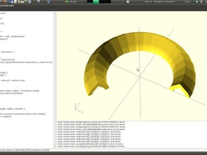 Partial Rotate Extrude (OpenSCAD)