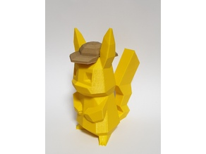 Low-Poly Detective Pikachu Hat