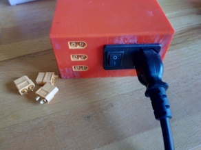 Power Supply Cover with switch and XT60 output