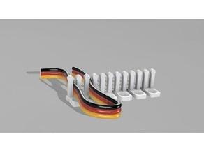 Servo Cable organizer segmented