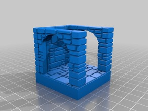 OpenForge Stone Brick double door with wall