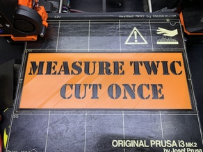 Measure Twic cut once