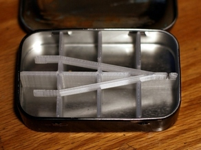 Altoids Tin Divider with Tweezers
