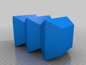 Layered Diamond Box Vase