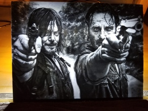 Walking Dead Lithophane