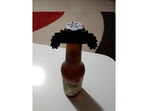 Beer Bottle Borat Mustache