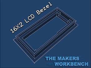 Panel Mount 16x2 LCD Bezel