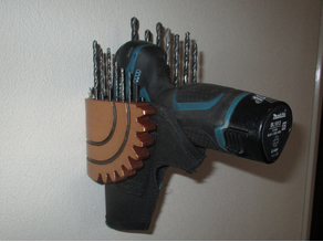 Steampunk Drill and Drill Bit Holder