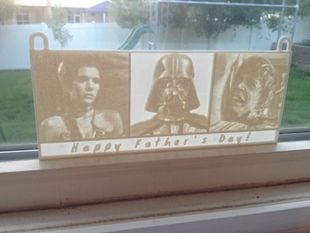 Happy Father's Day Darth Vader Lithophane