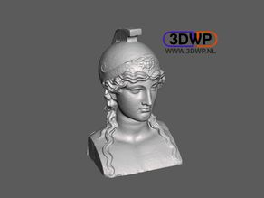 Athena Bust 3D Scan