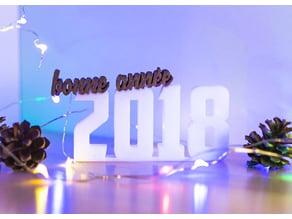 Bonne année 2018 - Happy new year 2018