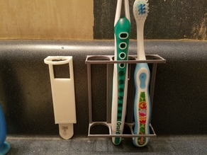 Command Strip Toothbrush Holder