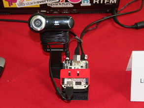 BeagleBone + Webcam holder
