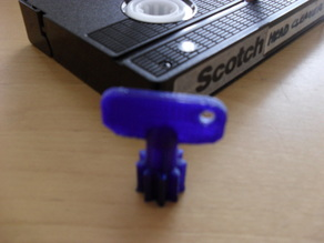 VHS Video Tape Winding Key
