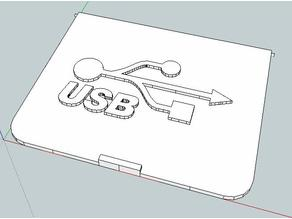 Logo y Puerta para USB / Logo and Door for USB