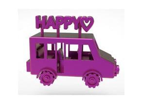 Happy Bus Miniature Toy