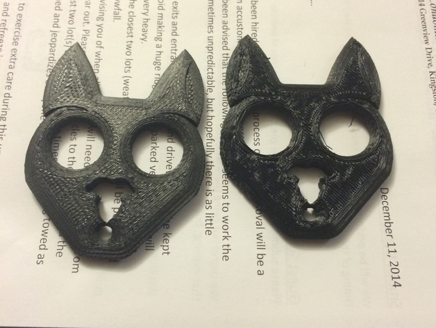 Makes Of Black Cat Self Defense Keychain By Xyzmakerbotprinter