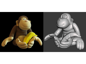 Toy monkey with banana