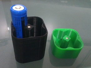18650 Battery Tray with magnetic insert