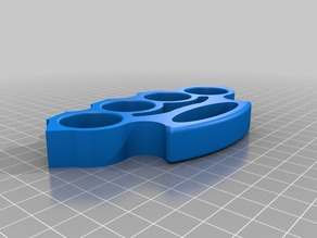 Brass Knuckles Solid Object