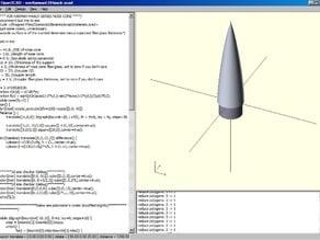 Von Karman/LD Haack series nose cone fiberglass template