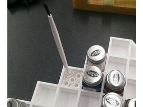 Paint brush holder insert